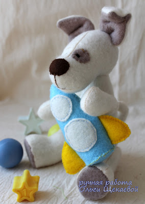собачка, щенок, пёсик, мягкая игрушка, ракета