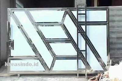 15+ Model Pintu Pagar Stainless Steel Minimalis Terbaru dan Terlengkap