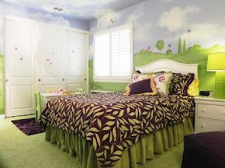 cuarto infantil con mural