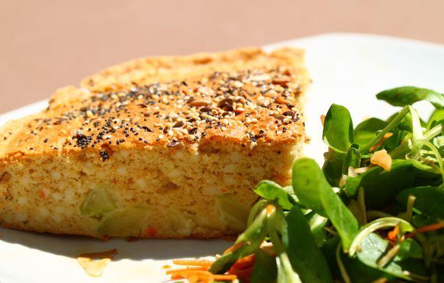 light surimi and zucchini cake