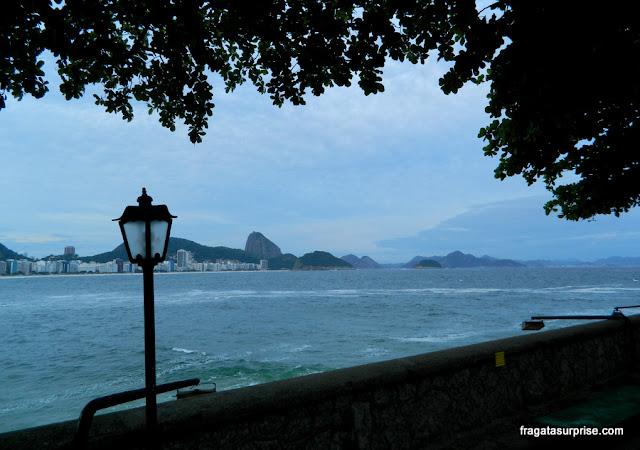A Baía de Guanabara vista do Forte de Copacabana