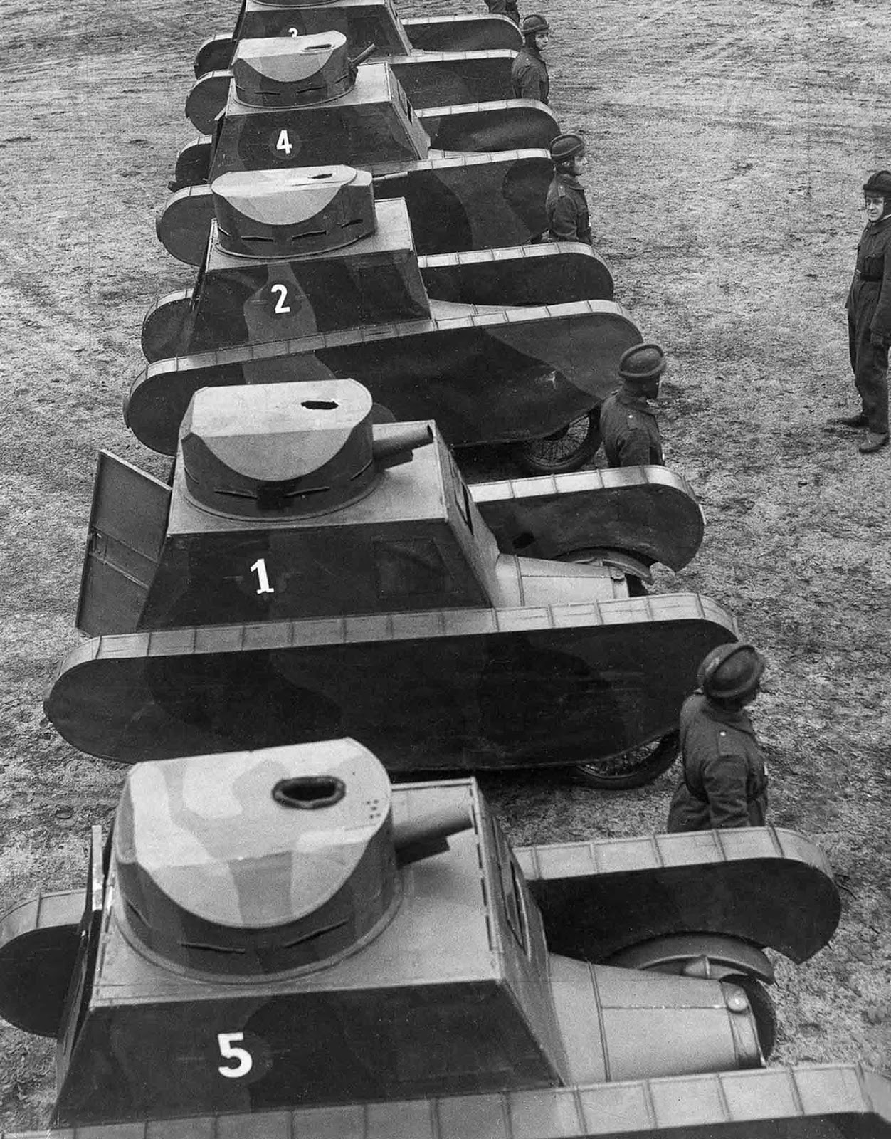 German dummy tanks. 1931.