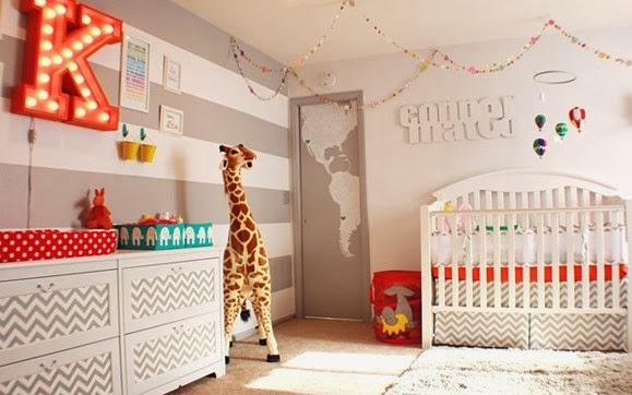 Habitación decorada de bebé