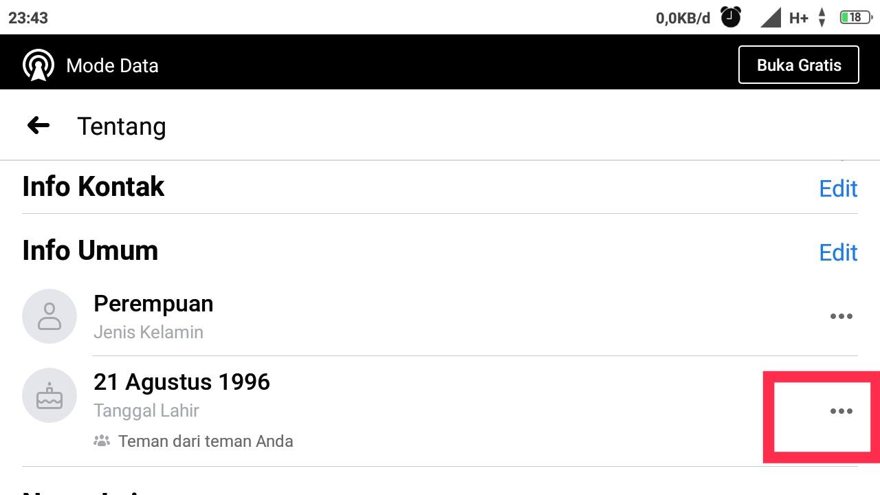 cara melihat tanggal lahir orang di fb