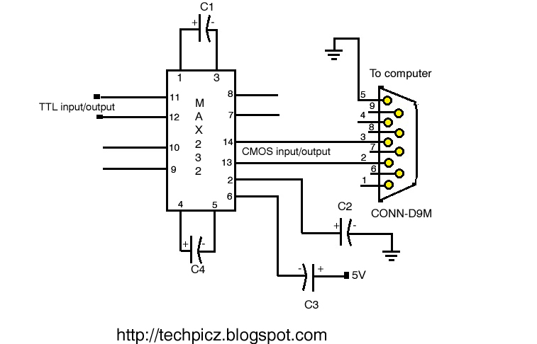 simple rs232 to logic level converter ttl cmos
