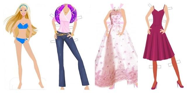 Бумажная кукла Барби