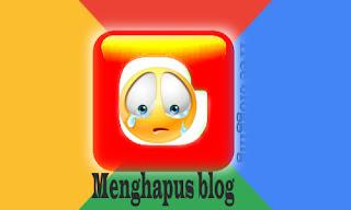 gamar icon cara menghapus blog di blogger