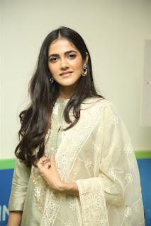 Indian Model Simran Chowdary in Sandal Color Churidar Dress at Sehari Movie Launch Function (3)