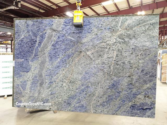 2cm Blue Bahia Granite Slabs NYC