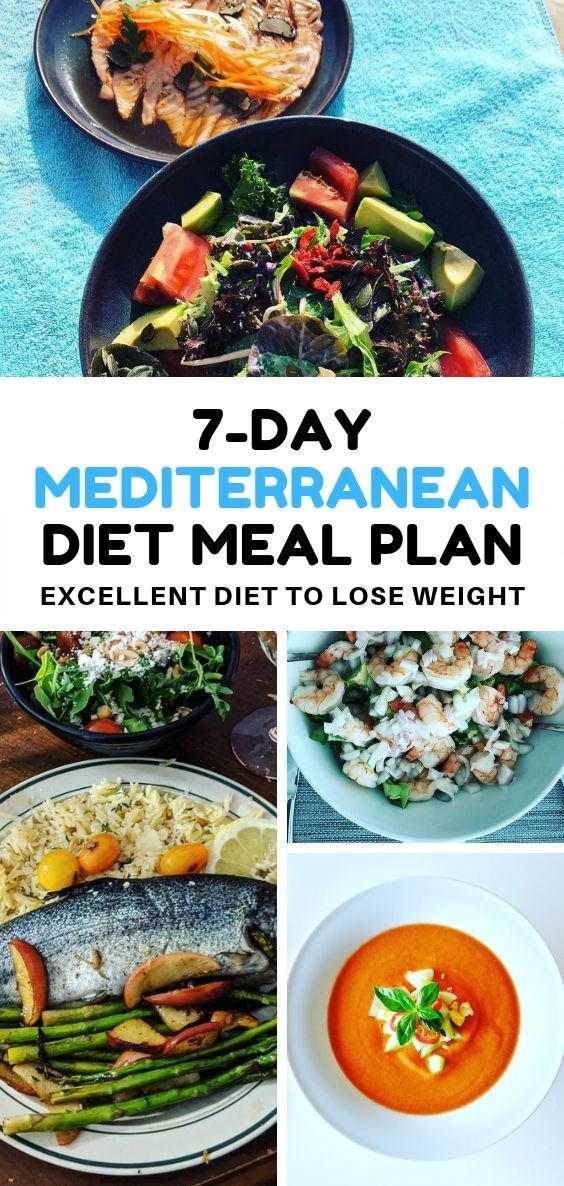 7-Day Mediterranean Diet Meal Plan an Excellent Diet To Lose Weight