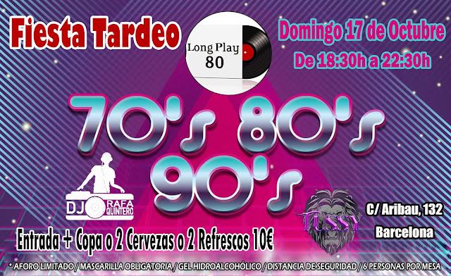 Flyer Fiesta Tardeo 70s 80s 90s