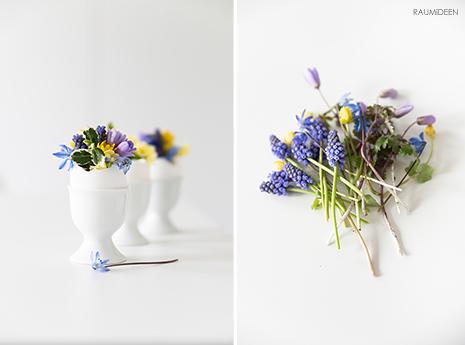 Ministräuße für deine Osterdekoration - so einfach bindest du Blumensträuße für deine schlichte Osterdeko.