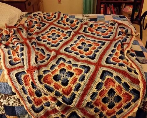 Larksfoot Afghan - Free Pattern