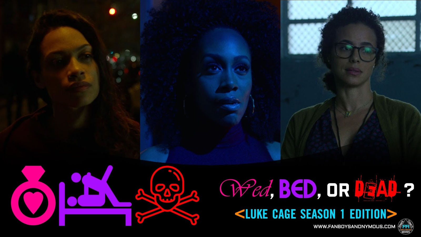 Marry Fuck Kill Luke Cage Netflix Season 1 who would you bang kill marry