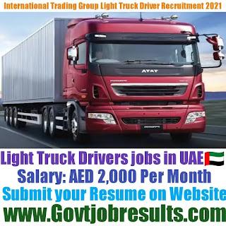 International Trading Group Light Truck Driver Recruitment 2021-22