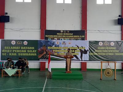 Kodim 1607/Sumbawa Gelar Kejuaraan Pencak Silat se Kabupaten Sumbawa