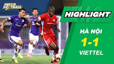 Video Viettel 1-1 Hà Nội: 4 phút 2 bàn, rực lửa derby