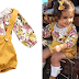 $7.49 (Reg. $29.99) + Free Ship Baby Girls Floral Romper Set!