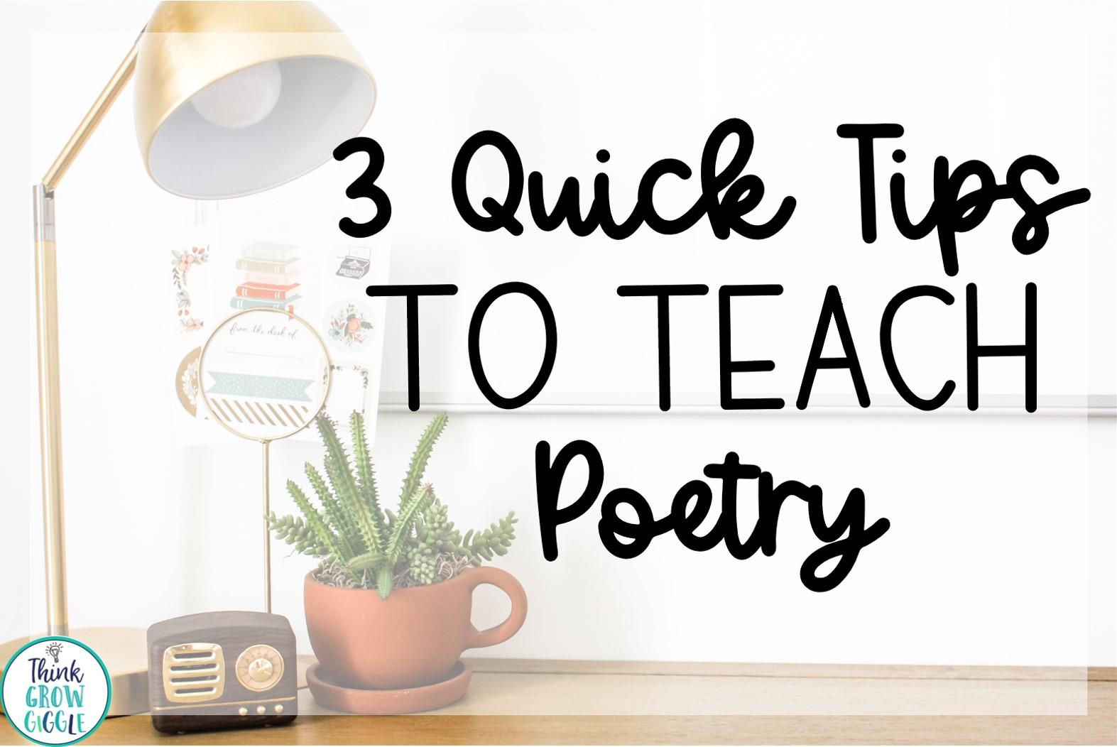 Poetry teaching tips for upper elementary