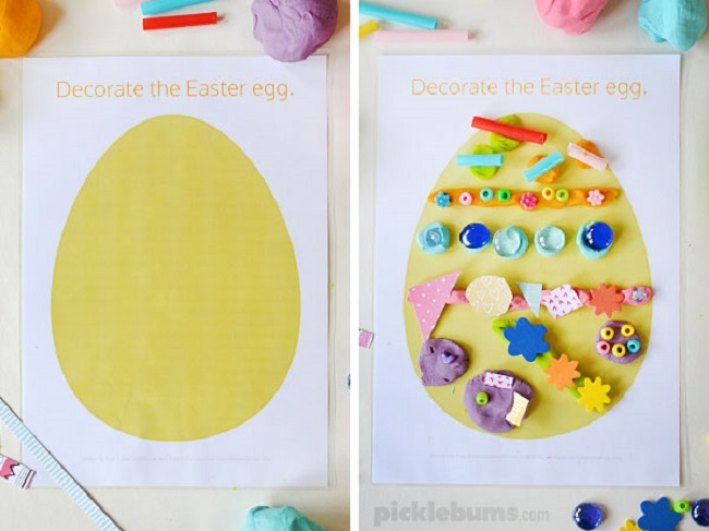 easter playdough mats by picklebums