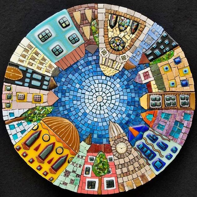 mozaika okrągła