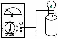Mengukur Ampere meter DC
