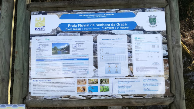 Praia Fluvial da Senhora da Graça - Painel informação