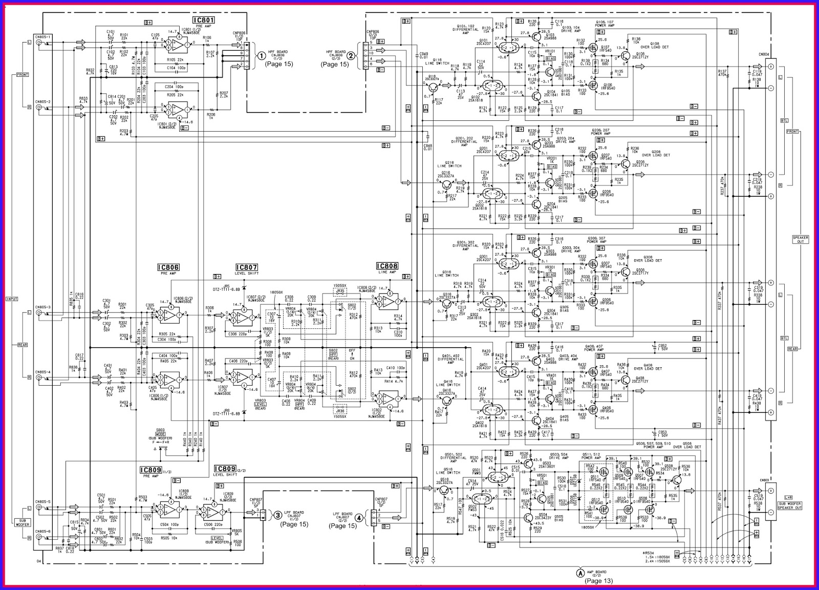Sony Car Amplifier Circuit Diagram Index 20 Sensor Seekiccom Electronic Equipment Repair Centre Xm 1505sx