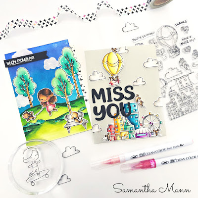 Stay Paw-sitive and Miss You Cards by Samantha Mann for LDRS Creative, Two Many Cards Video Series, YouTube, Video, Cards, Handmade Cards, Distress Inks, Ink Blending, #ldrscreative #ldrs #cards #handmadecards #twomanycards #video #youtube