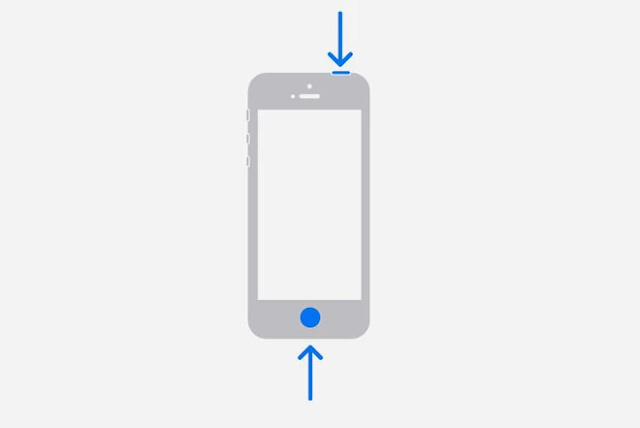 Cara screenshot Seri iPhone yang menggunakan Touch ID dan tombol Power di Samping