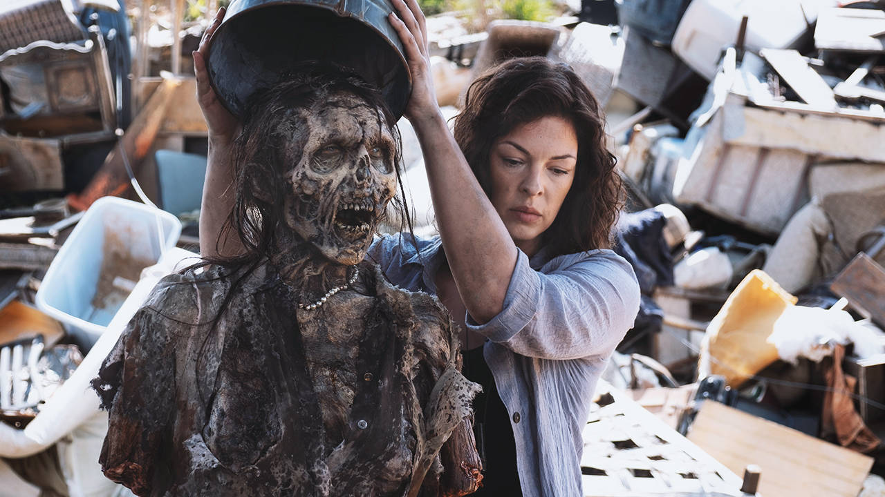Jadis, en el episodio 9x04 The Obliged de The Walking Dead