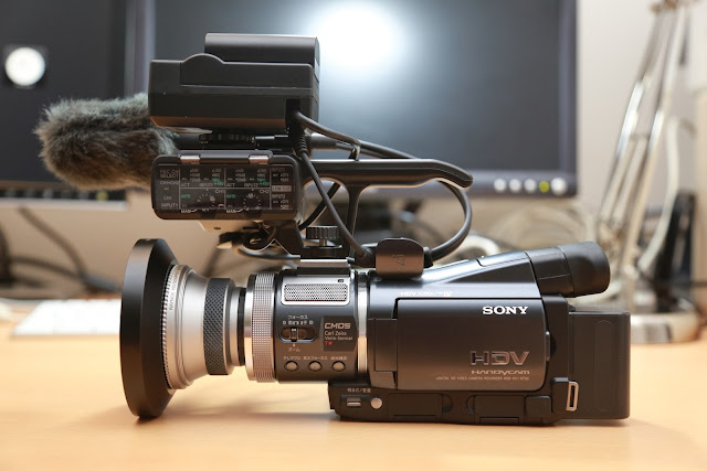 Make SONY HDR-A1 from HDR-HC1  (XLR block)