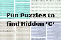 Fun Puzzles to find C in given Patterns for Kids