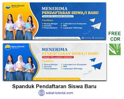 Download Desain Banner Spanduk Pendaftaran Siswa Baru Coreldraw