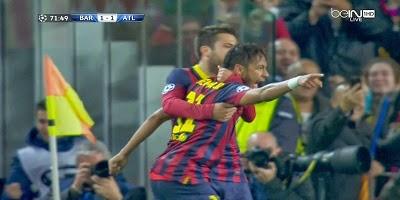 UEFA-8 : Barcelona 1 vs 1 Atletico Madrid 01-04-2014