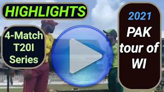 Pakistan tour of West Indies 4-Match T20I Series 2021
