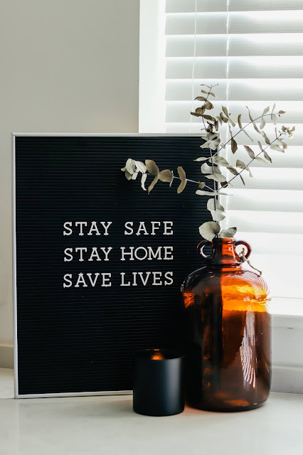 stay safe stay home save lives sign for coronavirus lockdown