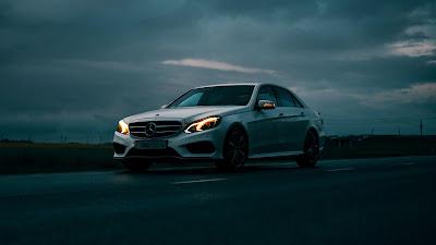 Mercedes White Car HD wallpaper