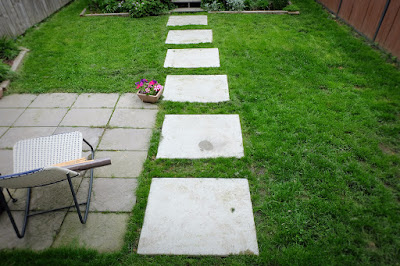 yard path concrete rectangle shape