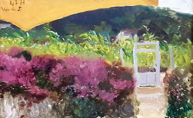 Boceto en el jardín, Joaquín Sorolla y Bastida, Joaquín Sorolla, Paisajes de Joaquín Sorolla, Impresionismo Valenciano, Joaquín Sorolla Bastida