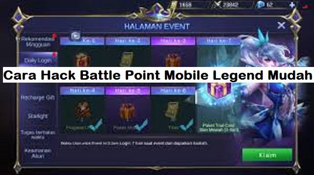 Cara Hack Battle Point Mobile Legend