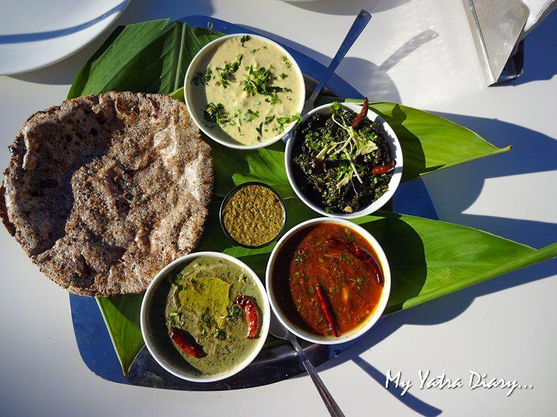 Traditional Kumaoni thali at Alhito cafe, Kasar Devi Uttarakhand