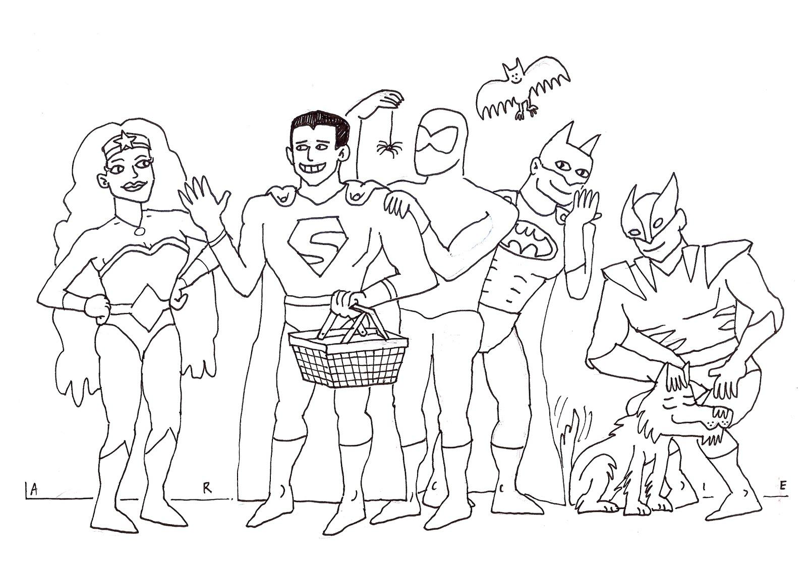 Lariecook Banner Kleurplaten Superhelden