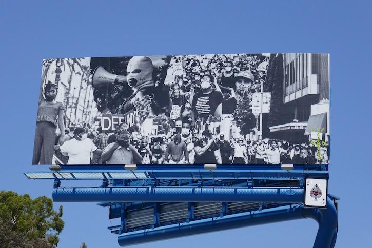 Black Lives Matter Cactus Jack billboard