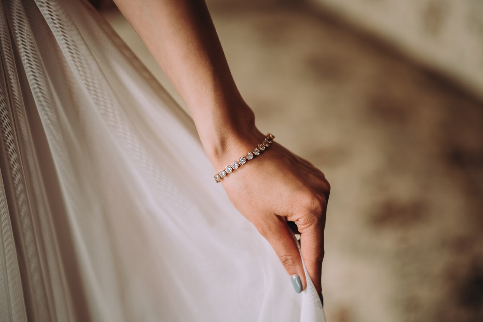 Bransoletka ślubna Rose Gold