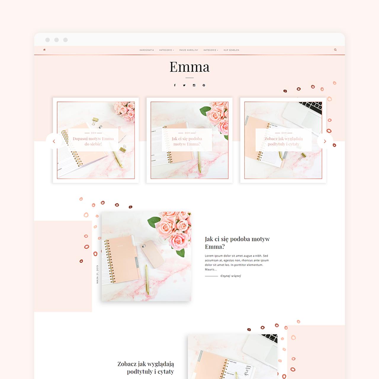 Motyw na bloggera Emma