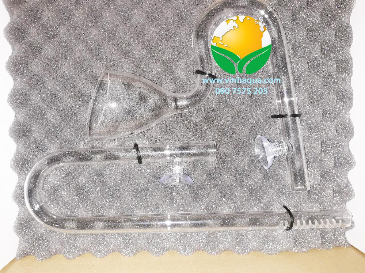 In out thủy tinh Fi 16 Ista dùng cho lọc thùng hồ thủy sinh