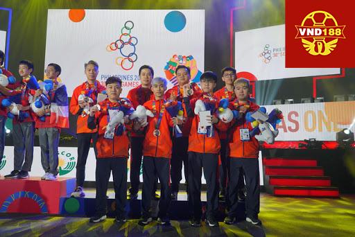 Hình ảnh của đội tuyển thể thao điện tử Việt Nam