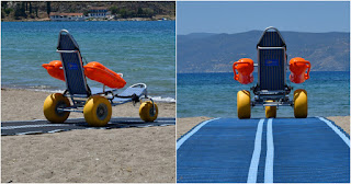 Ναύπλιο: Έβαλαν ράμπα και ειδικό αναπηρικό καροτσάκι για ΑΜΕΑ στις παραλίες και είναι παράδειγμα προς μίμηση για όλες τις πόλεις