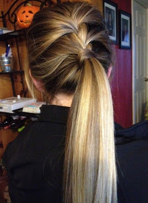 colour ponytail